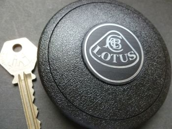 Lotus Self-Adhesive Mountney Mota Lita etc Steering Wheel Badge. Silver or Black. 39mm.