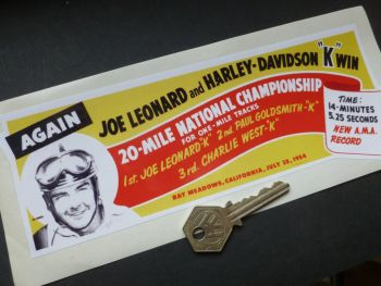 "Bay Meadows, California, 20 Mile National Championship Sticker. 8.5""."