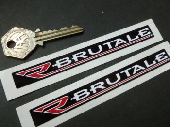 "Brutale Oblong Stickers. 4.75"" Pair."