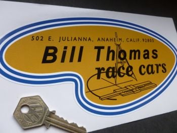 "Bill Thomas Race Cars Sticker. 8.5""."