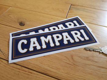 """Campari Logo Sponsors Stickers. 8"""" Pair."""