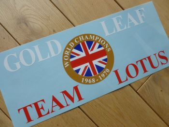 "Gold Leaf Team Lotus Cut Vinyl No Background Sticker. 11""."