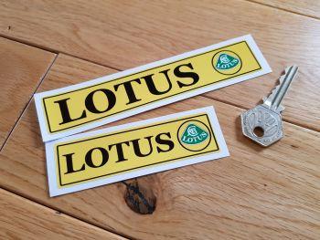 "Lotus Oblong Logo Sticker. 3.5"" or 5.5""."