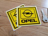 Opel Square Black & Yellow Stickers. 2