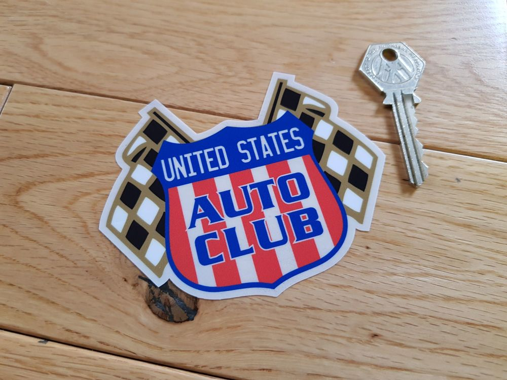 "United States Auto Club Window Sticker. 4""."