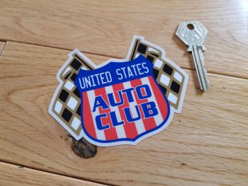 "United States Auto Club Window Sticker. 4""."