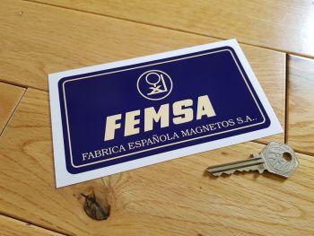 "FEMSA Battery Sticker. 6""."