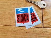 """Simca Shield Stickers. 2"""" Pair."""