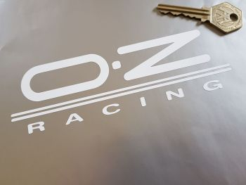"OZ Racing Cut Vinyl Stickers. 6"" Pair."