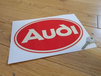 "Audi Red Oval Sticker. 10""."