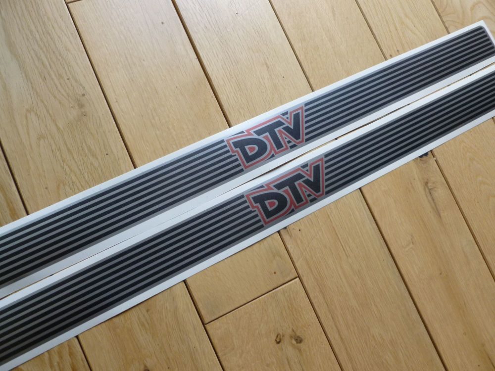 DTV Dealer Team Vauxhall Narrow Kick Plate Protector Stickers. 575mm x 38mm Pair.