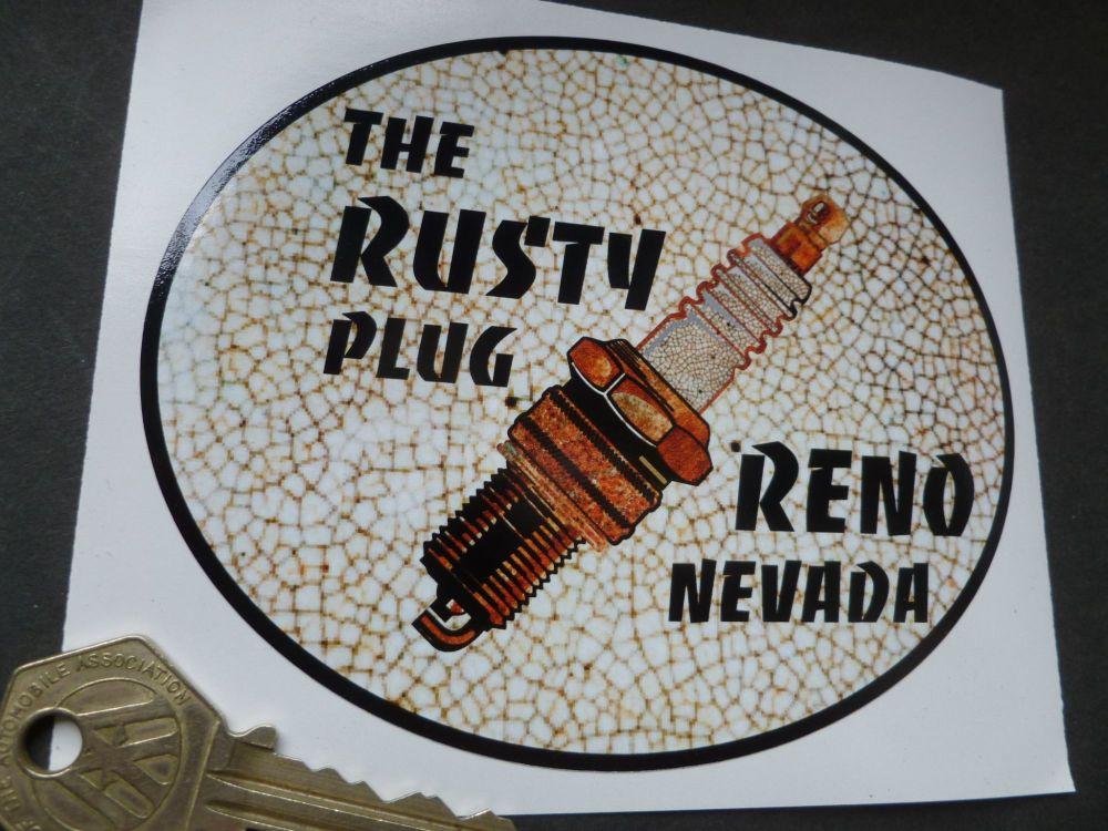 "The Rusty Plug Reno Nevada Body or Window Sticker. 5""."