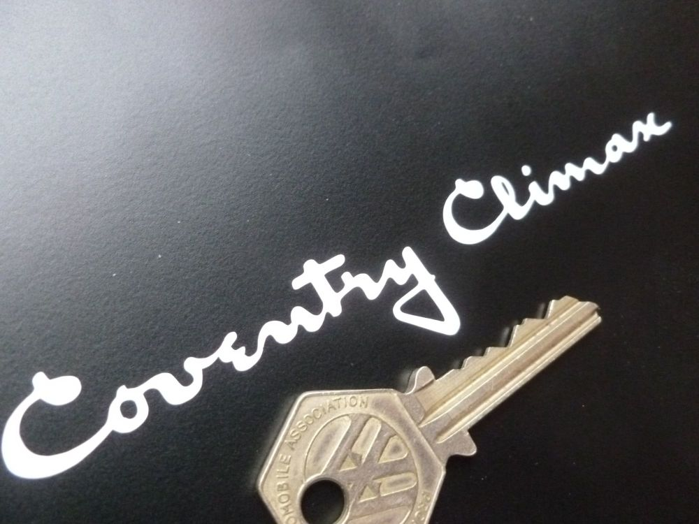 Coventry Climax Cut Vinyl text Sticker. 5