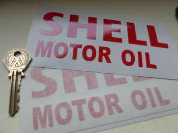 """Shell Motor Oil Cut Text Sticker. 5.5""""/ 140mm."""