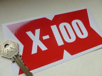 "Shell X-100 Motor Oil Race Car, Service Station Workshop Sticker. 6""/150mm."
