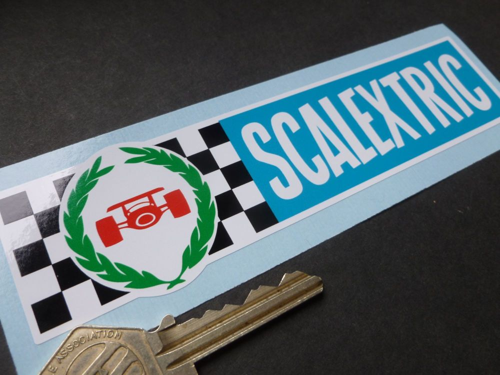 """Scalextric 70's Style Oblong Sticker. 6""""."""