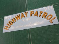"California Highway Patrol Curved Text Car Sticker. 29""."