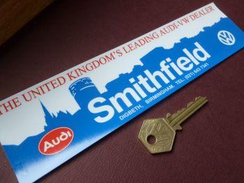 "Smithfield Birmingham VW AUDI  Classic  Dealer Sticker. 9""."