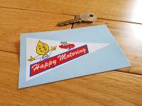 "Esso 'Happy Motoring' Pennant Sticker. 4""."