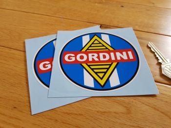"""Renault Gordini Round Stickers. 2.5"""", 4"""" or 4.5"""" Pair."""