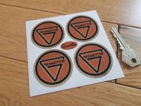 Ginetta Wheel Centre Style Stickers. Chrome Foil Background. Set of 4. Various Sizes.