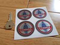 AC Cobra Wheel Centre Stickers with Black Line. Set of 4. 30mm or 50mm.
