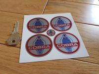AC Cobra Wheel Centre Stickers. Set of 4. 38mm or 50mm.