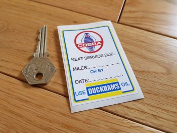 "AC Cobra 'Use Duckhams Oil' Service Sticker. 3""."