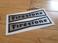Firestone 'Dicky Bow' Black & Silver Stickers. 6