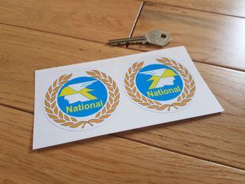 "National Benzole Garland Round Stickers. 2.5"" Pair."