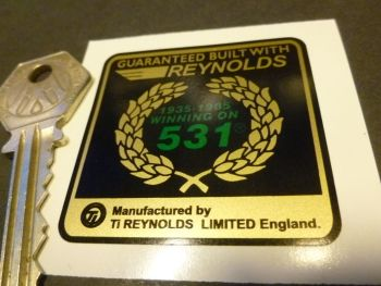 "Reynolds 531 1935-85 Garland Guaranteed Built With Sticker. 2""."