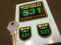 Reynolds 531 Competition Later Style Stickers. Set of 3.