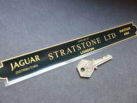Stratstone Ltd London Jaguar Dealer Shaped Window Sticker. 9.5