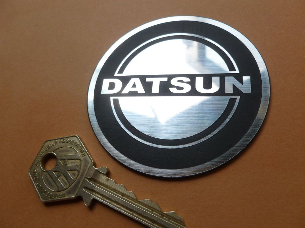 Datsun 240Z 260Z 280Z etc Self Adhesive Circular Car Badge. 70mm.