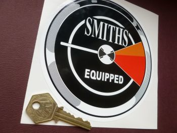 "Smiths Equipped Tacho Style Sticker. MGC Sebring etc. 5.5""."