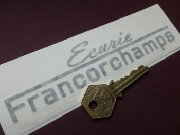 "Ecurie Francorchamps Cut Text Sticker. 6""."