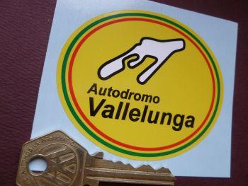 "Vallelunga Autodromo Style Italian Circuit Sticker. 3""."