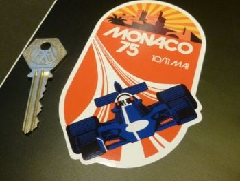 "Monaco 10/11 May 1975 Grand Prix Sticker. 4.5""."