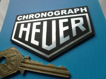 "Heuer Chronograph Laser Cut Self Adhesive Car Badge. 1.75"" or 3""."