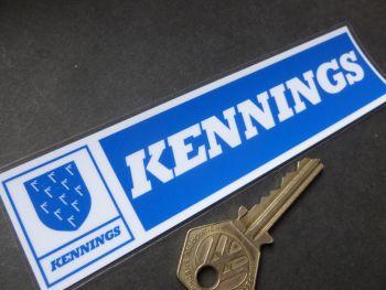 """Kennings Dealers Window Sticker. 6""""."""