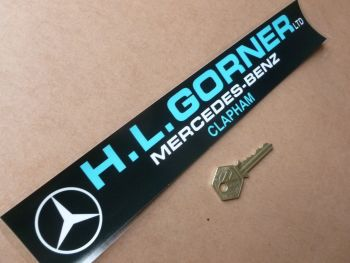 "H.L.Gorner Clapham Mercedes Benz Dealers Window Sticker. 12""."