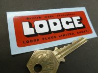 Lodge British Made Throughout Rugby Sticker. 3.25
