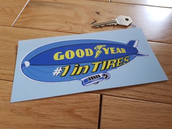 "Goodyear '1 in Tires' Airship Sticker. 6""."