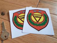 "Ginetta Shield Stickers. 4"" Pair."