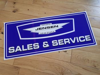 "Jensen Sales & Service Sticker. 24"". Slight Second 002."