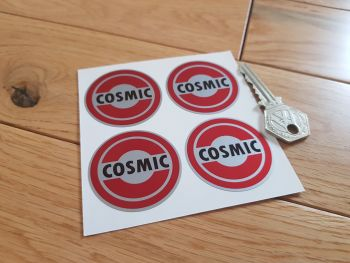 Cosmic Red Style 3 Wheel Centre Stickers. Set of 4. 45mm.