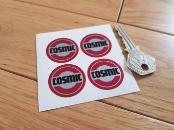 Cosmic Red Style 4 Wheel Centre Stickers. Set of 4. 30mm.