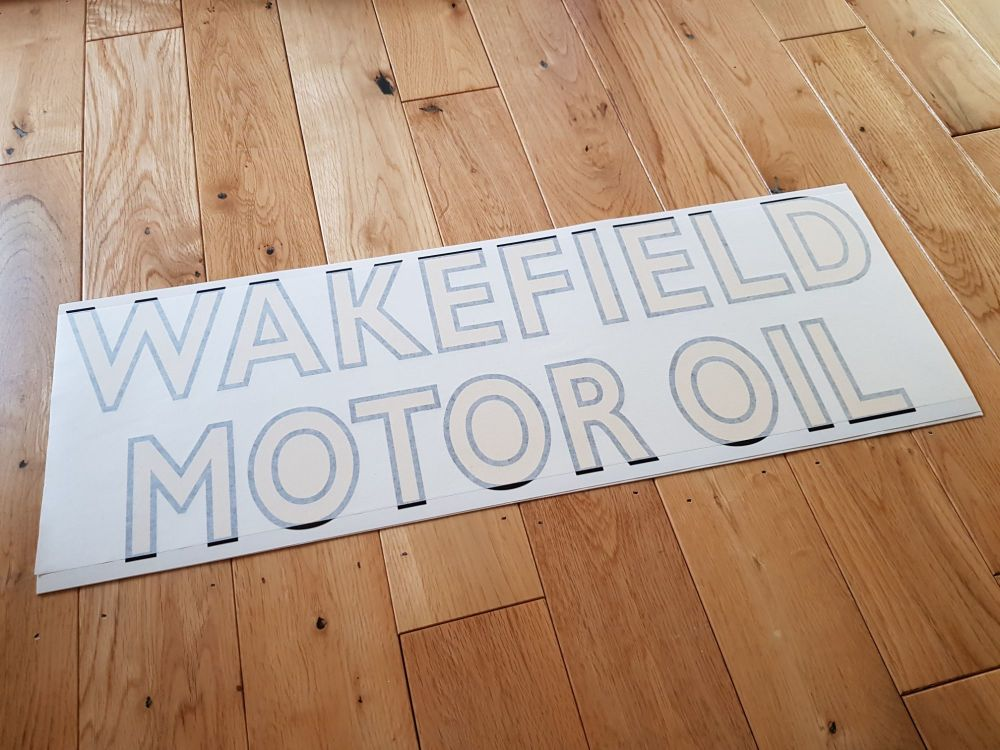 "Castrol Wakefield Motor Oil Cut Text Sticker. 24"". Slight Second 029."