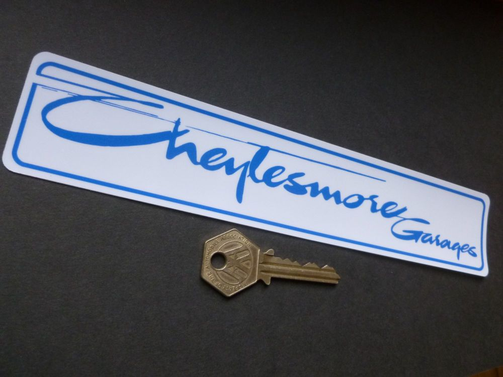 "Cheylesmore Garage Dealers Window Sticker 9""."
