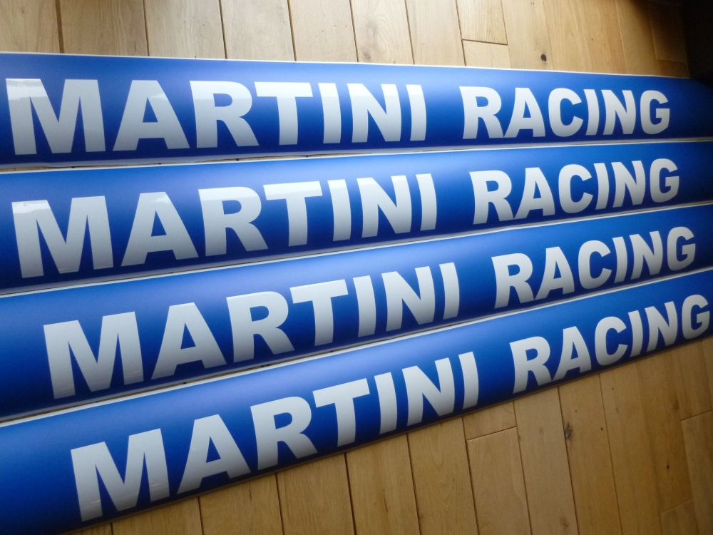 "Martini Racing Race & Rally Screen Top Sun strip Visor Sticker.  55""/ 1.4m."